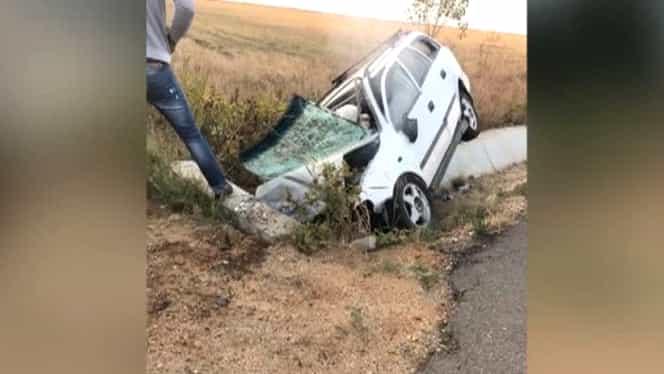 Accident rutier lângă Craiova! Patru oameni au murit, după ce au intrat într-un cap de pod GALERIE FOTO şi VIDEO
