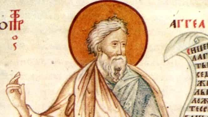 Calendar Ortodox 16 decembrie: Sfântul Prooroc Agheu