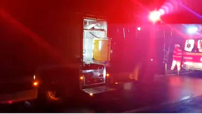 Autocar cu 72 de persoane, răsturnat în Hunedoara! A fost activat planul roșu