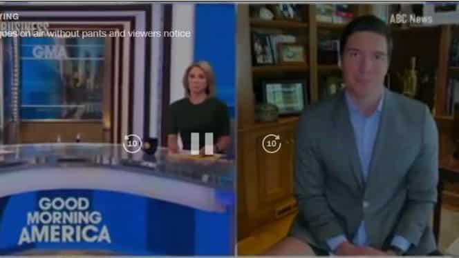 Un reporter de la ABC News a intrat în direct fără pantaloni pe el