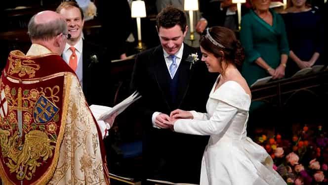 Nuntă în familia regală a Marii Britanii. Prințesa Eugenie s-a căsătorit cu omul de afaceri Jack Brooksbank
