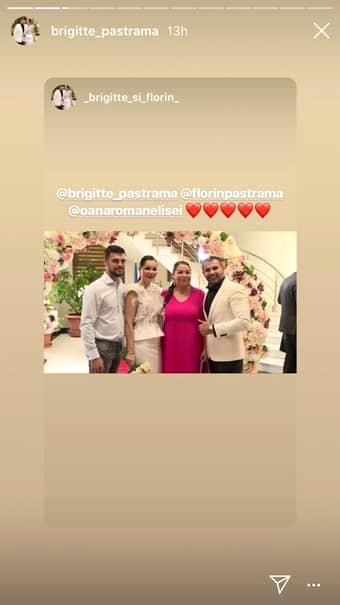 Oana Roman nunta Brigitte Sfat
