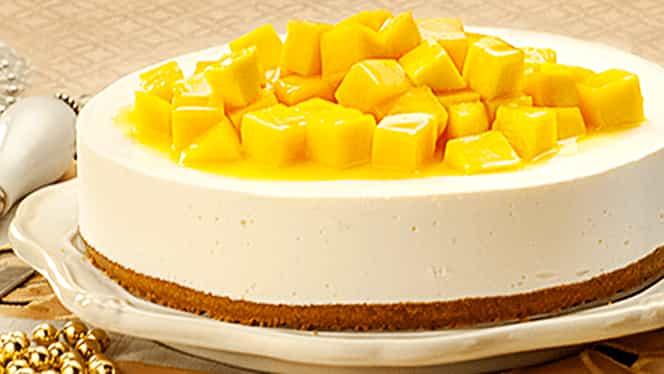 Rețeta zilei. Cheesecake cu mango, fără coacere