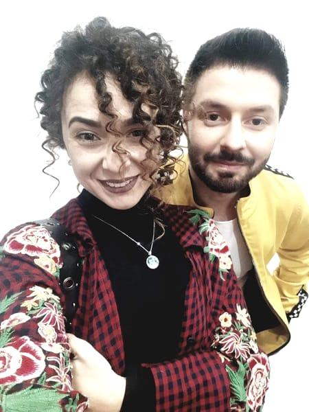 Bogdan Ioan alături de iubita lui, Roxana Mihaela.