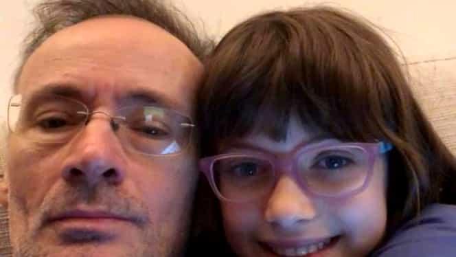 Întâlnire emoționantă între Mihai Albu și fiica lui. Designerul a văzut-o pe Mikaela după două luni