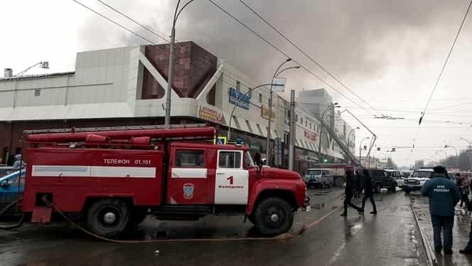 Video. Nenorocire în Rusia! 53 de persoane au murit într-un incendiu la un centru comercial