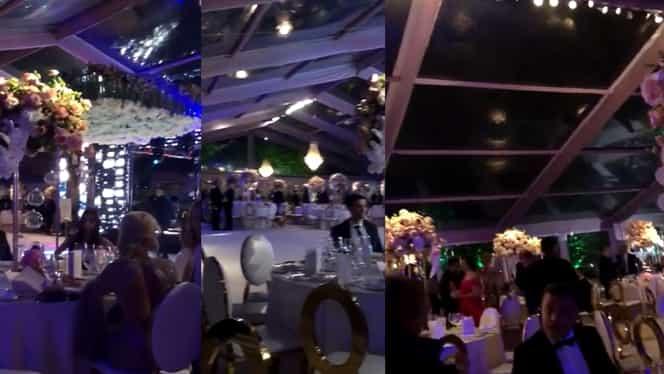 Imagini exclusive de la nunta Teodorei Becali. VIDEO cu dansul mirilor. Gigi Becali a cântat la petrecere