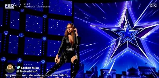 Dansatoarea maneliștilor, Denisa Despa, dans senzual, la Românii au Talent! Florin Călinescu, reacție de mii de like-uri
