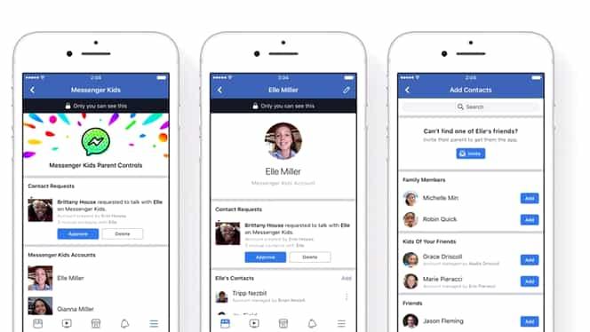 Veste bună pentru părinţi. Facebook lansează o versiune pentru copii a aplicaţiei Messenger