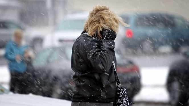 Prognoza meteo miercuri, 12 decembrie 2018. ANM anunță vânt, ninsori și temperaturi scăzute!