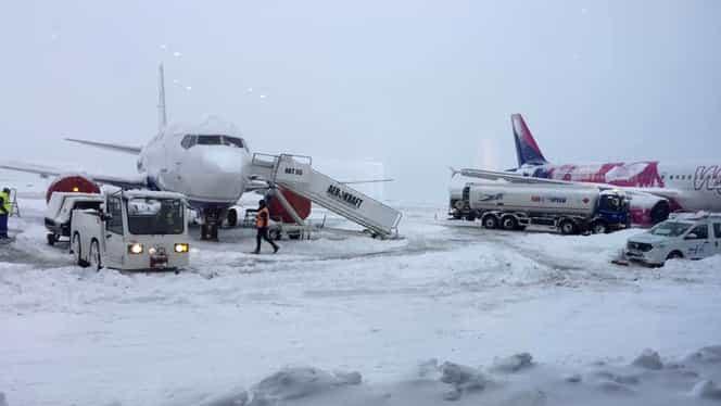 Curse aeriene anulate din cauza ceții, pe Aeroportul din Sibiu