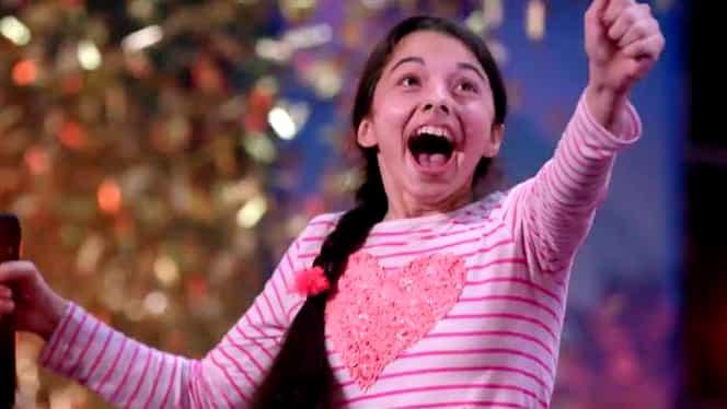 """VIDEO. Laura Bretan, copila cu voce de aur i-a lăsat fără cuvinte pe juraţii de la """"Americanii au talent"""""""