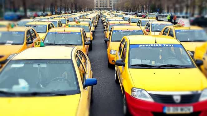 Protest al taximetriștilor, în București! Sondaj: 9 din 10 români nu vor desființarea Uber