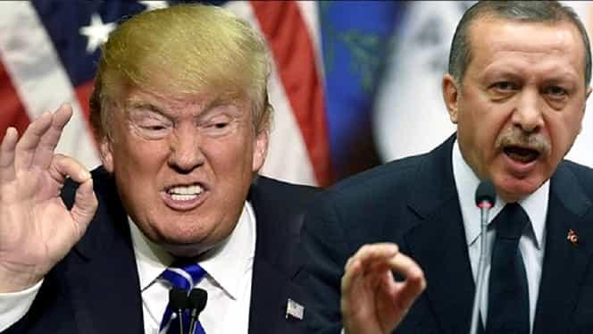 Donald Trump îl amenință pe Erdogan: SUA vor devasta economic Turcia, dacă îi atacă pe kurzi