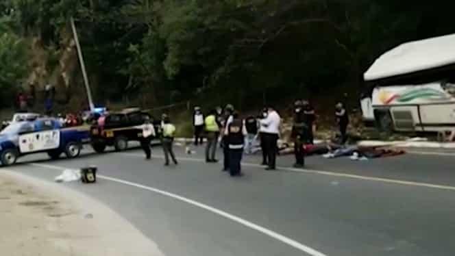 Tragedie în Guatemala. 20 de oameni au murit în urma unui accident rutier