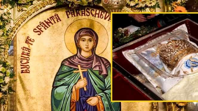 Cum arată acum moaștele Sfintei Parascheva, la 900 ani de la moartea ei. Oamenii s-au luptat să le păstreze intacte în raclă. FOTO