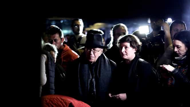 Mihai Șora, pezent la comemorarea victimelor din Colectiv