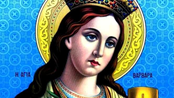 Calendar ortodox 4 decembrie. Creștinii o preaslăvesc pe Sfânta Varvara. Două lucruri pe care nu trebuie să le faci azi