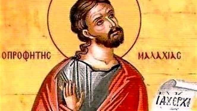 Calendar ortodox 3 ianuarie. Este prăznuit Sfântul Proroc Maleahi