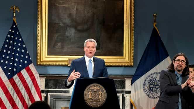Spitalele din New York, la un pas de colaps. Avertismentul primarului Bill de Blasio