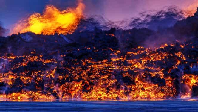 GALERIE FOTO. Traficul aerian din Europa, în pericol! Un vulcan din Islanda este pe cale să erupă!