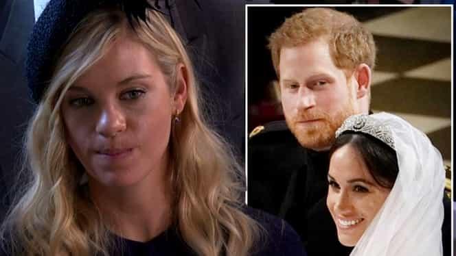 Chelsy Davy fosta iubită a Prințului Harry reacție virală la nunta regală. Cum a fost surprinsă