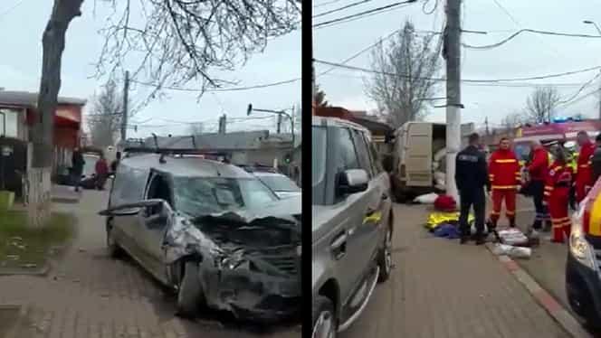 Accident grav în Voluntari: șoferul unei dubițe a murit pe loc. Video cu puternic impact emoțional
