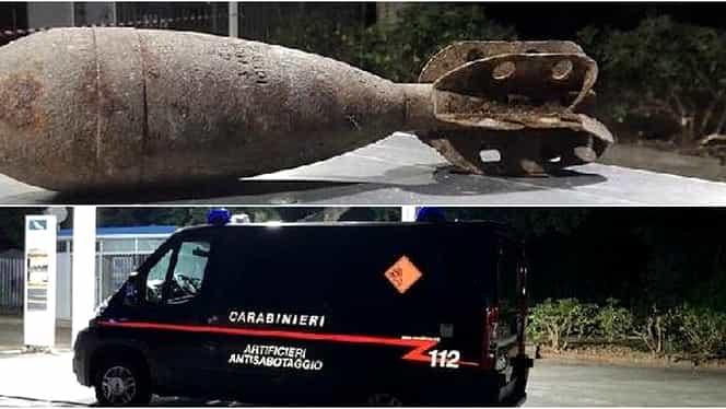 Bombă uriașă descoperită în sudul Italiei. Jumătate din populația orașului a fost evacuată
