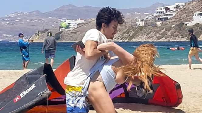 FOTO&VIDEO. Adevăratul motiv pentru care Lindsay Lohan a fost agresată de iubitul ei, pe plajă, a ieşit la iveală