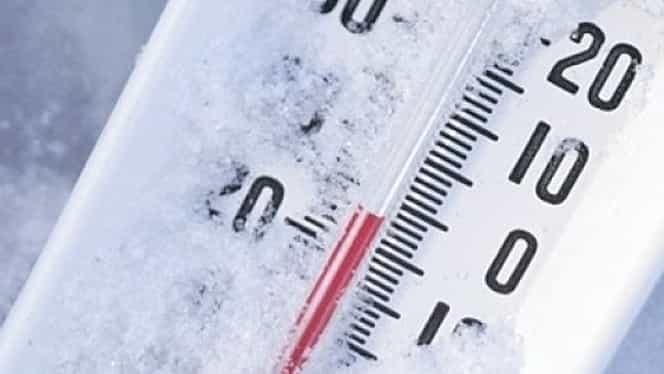 Cea mai scăzută temperatură din România, în aceste zile! A fost ger de-au crăpat pietrele