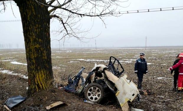 Cei patru bărbați morți în accidentul din Teleorman se întorceau de la Revelionul lăutarilor