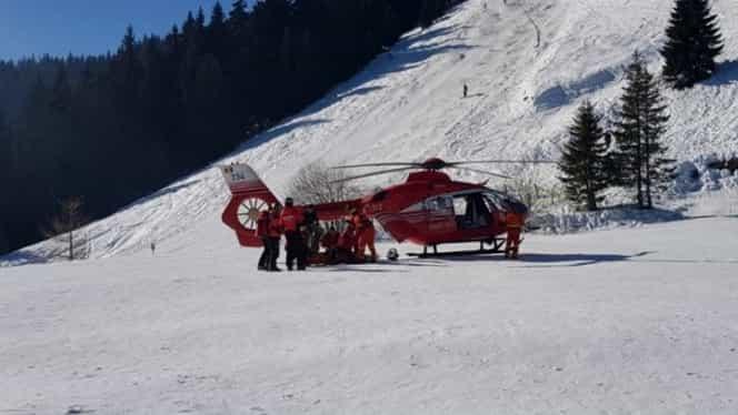 Accident grav la schi! S-a cerut elicopter SMURD pe o pârtie din Sinaia
