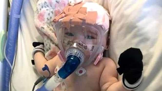Micul supraviețuitor! Acest bebeluș de nici șase luni a reușit să învingă noul coronavirus, în ciuda problemelor cu inima și plămânii