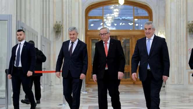 """Juncker a răbufnit la întâlnirea cu Tăriceanu: """"Cam dese schimbările de miniștri în România"""""""