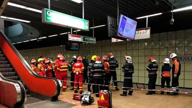 Accident la metrou, la stația Gorjului! O persoană a murit după ce s-a aruncat pe șine