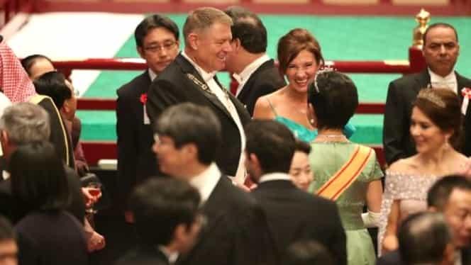 Klaus și Carmen Iohannis, ținute de gală la Banchetul Imperial din Japonia – FOTO
