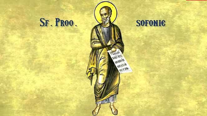 Calendar ortodox 3 decembrie: Sfântul Prooroc Sofonie