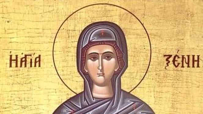 Calendar ortodox 24 ianuarie. Pomenirea preacuvioasei maici Xenia din Roma