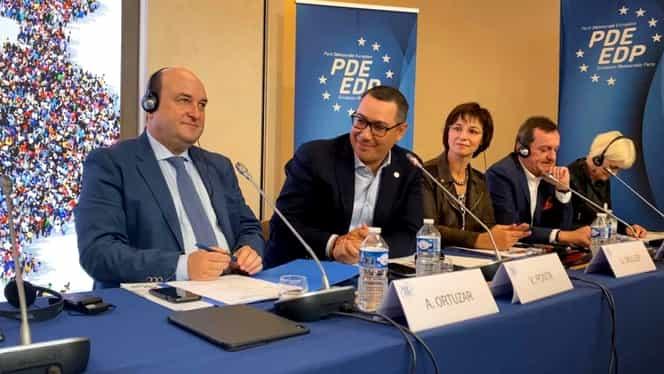 """Victor Ponta, vicepreședinte al Partidului Democrat European! """"Cred cu tărie că locul României este şi trebuie să rămână în Europa"""""""