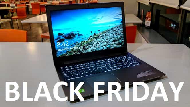 499 de lei, cel mai ieftin laptop scos la vânzare de Black Friday, pe eMag