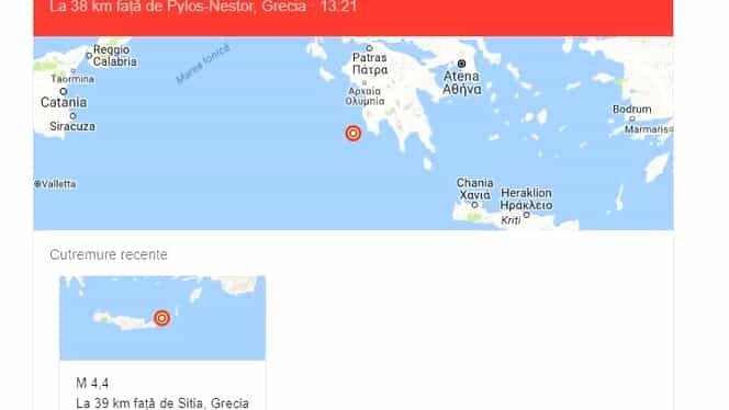 Cutremur cu magnitudinea de 5.2 grade pe Scara Richter, în Grecia