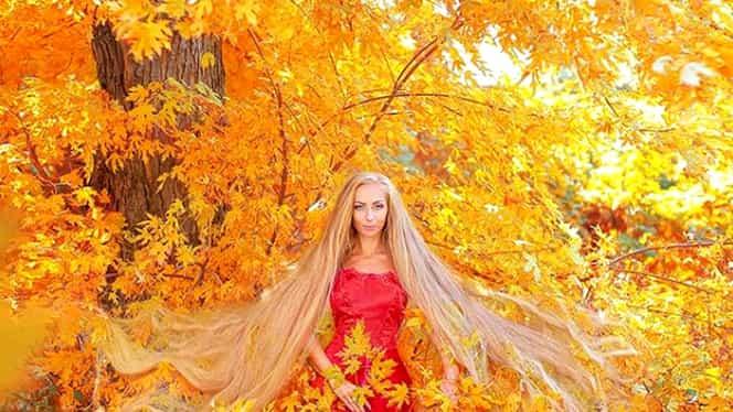 """Frumoasa """"Rapunzel"""" trăiește în Ucraina și are părul de aproape 2 metri lungime: """"Este foarte plăcut"""""""