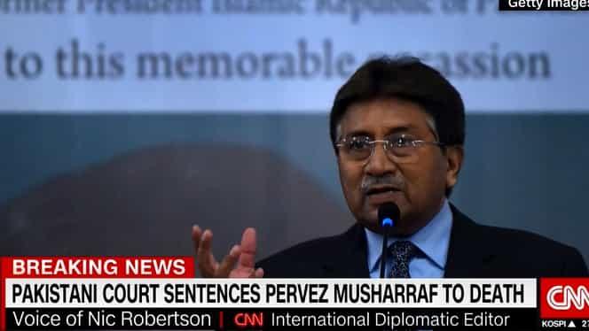 Pervez Musharraf, fostul președinte al statului Pakistan, condamnat la moarte pentru că a încălcat Constituția