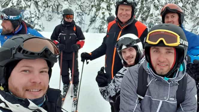 Klaus Iohannis, surprins din nou la schi, pe o pârtie din România! Unde a preferat să meargă