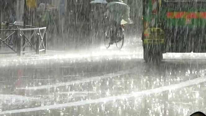 ALERTĂ! Cod galben de ploi torenţiale în judeţe din Oltenia şi Transilvania