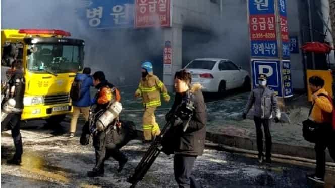 41 de oameni au murit într-un incendiu izbucnit la un spital din Coreea de Sud!