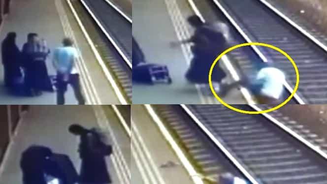 Falsele măicuțe din Vaslui au împins un bătrân pe calea ferată. Ce spun martorii