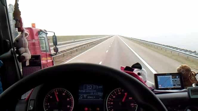 Șoferiță de TIR din Brăila, amendată pentru sfidarea poliției pe Facebook