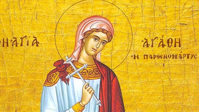 Calendar ortodox 5 februarie: Sfintele muceniţe Agata și Teodula