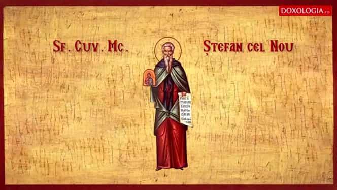 Calendar ortodox, joi, 28 noiembrie. Biserica îl pomenește pe Sfântul Ștefan cel Nou
